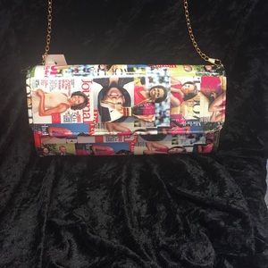 Bags - New styles Michelle obama clutch with gold on edge